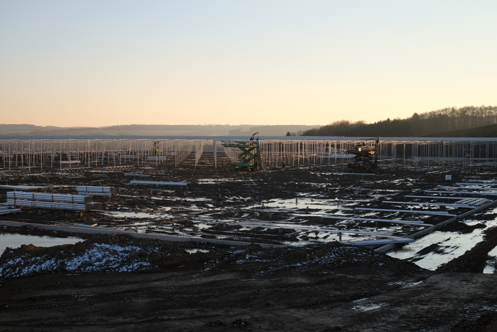 Überblick über das Baugelände, Stand 16.2.2016